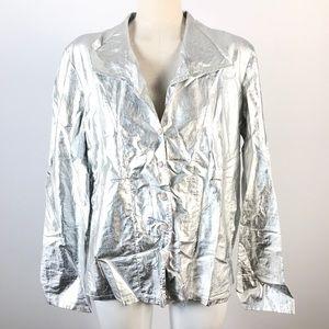 Linda Lundstrom Silver Metallic lightweight jacket